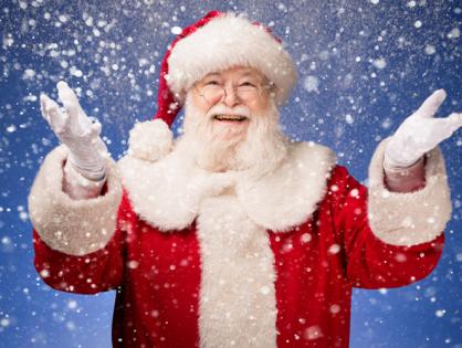 Santa Flies In!
